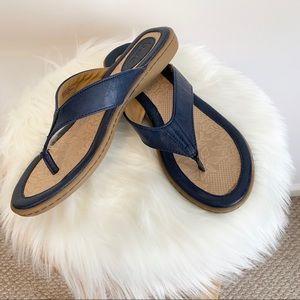 Born b.o.c. navy flip flop sandal